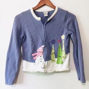 • adorable vintage little girls winter sweater •
